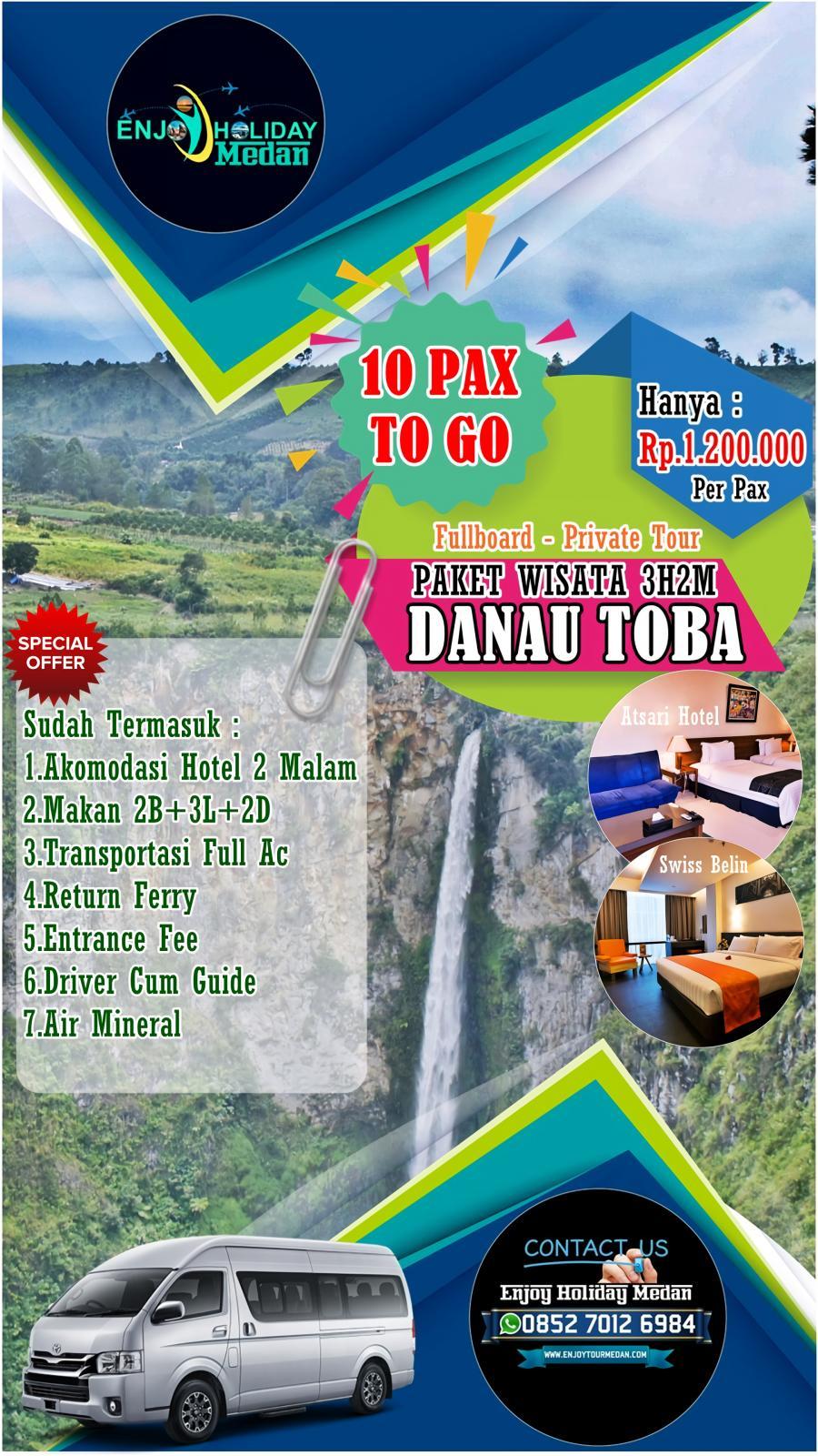 3D2N Bandara Silangit - Balige - Danau Toba - Paket Wisata