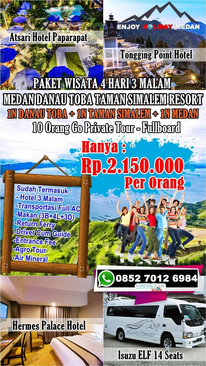 4 Hari 3 Malam Paket Tour Taman Simalem Resort