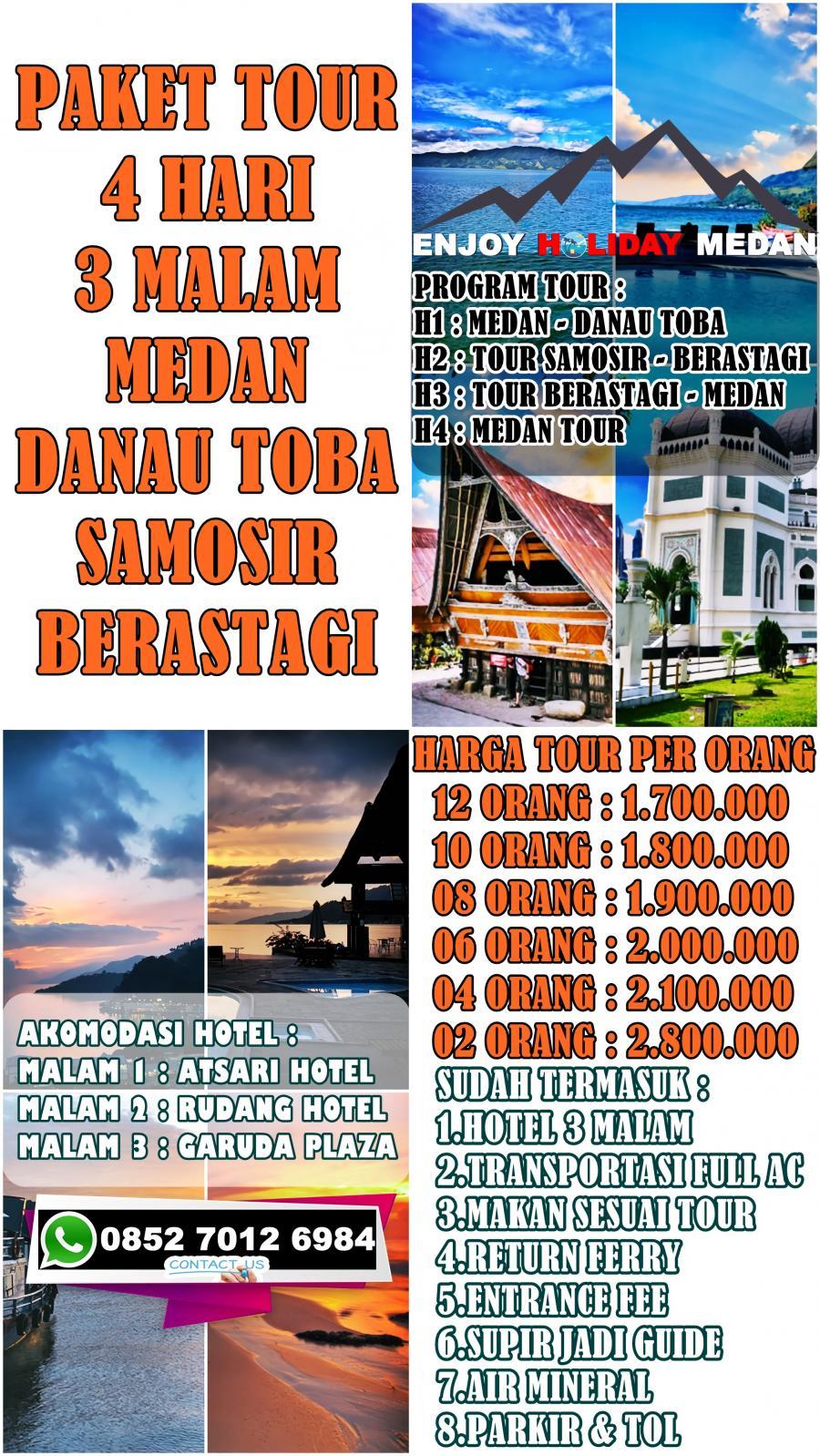 4D3N Medan Lake Toba Tour From Singapore Itenerary