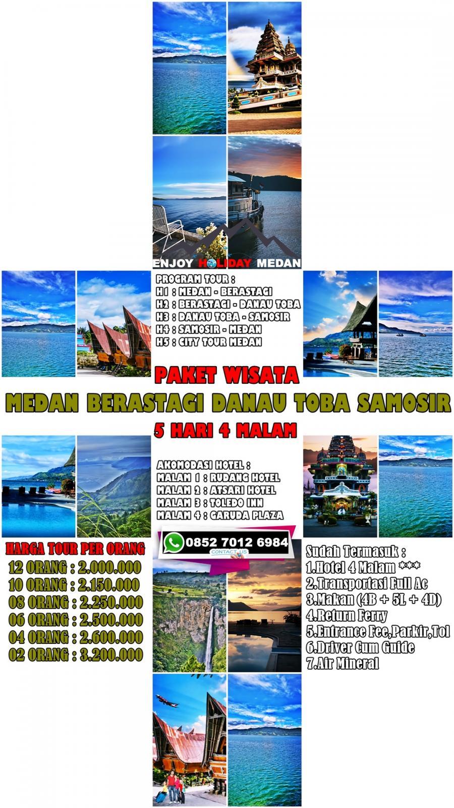 5 Days 4 Nights Lake Toba Brastagi Highland Medan Tour Package