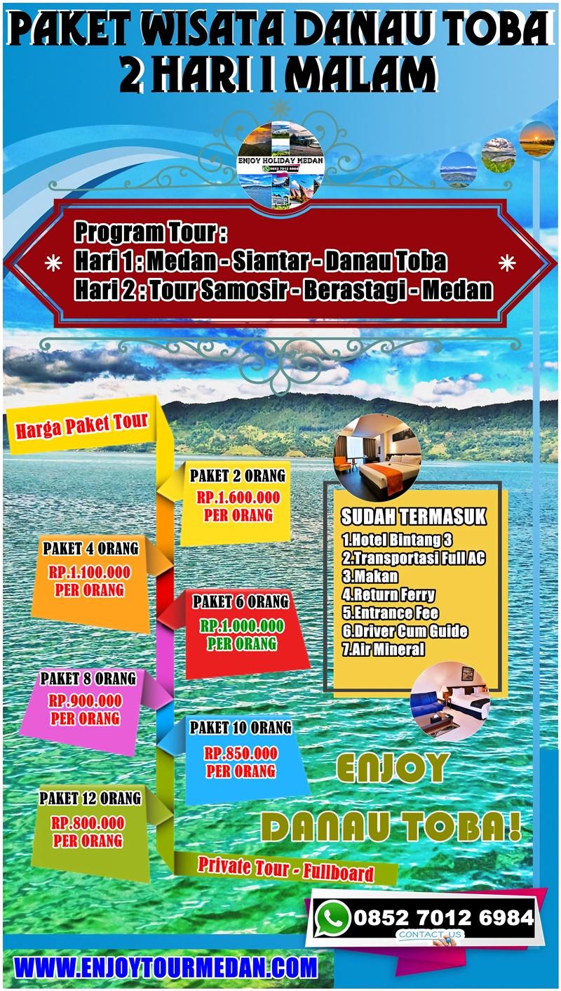 Paket Wisata Medan Danau Toba 2 Hari 1 Malam